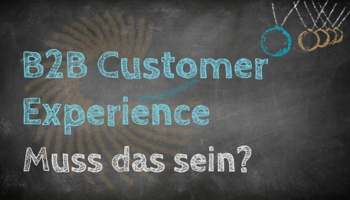 B2B Customer Experience - muss das sein? Titelbild